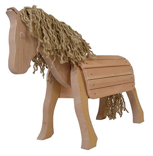 41LrVhVTQTL - Kleines Voltigierpferd - Holzpferd Charly 7034 - Kinder-Spielzeug-Pferd - Massiv