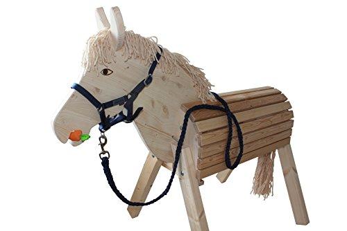 41mVm8dZ1sL - Helga Kreft Holzpferd Susi, Spielpferd, Gartenpferd mit absenkbarem Kopf