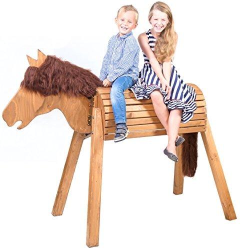 51lM4kKEVcL - Wildkinder Holzpferd/Voltigierpferd   Riesen Spielpferd XXL Handgefertigt in Deutschland