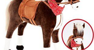 KNORRTOYSCOM Grosses XXL Standpferd Liana mit Sattel Braun Pferd Stehpferd 310x165 - KNORRTOYS.COM Großes XXL Standpferd Liana mit Sattel Braun Pferd Stehpferd Reitpferd Reiten